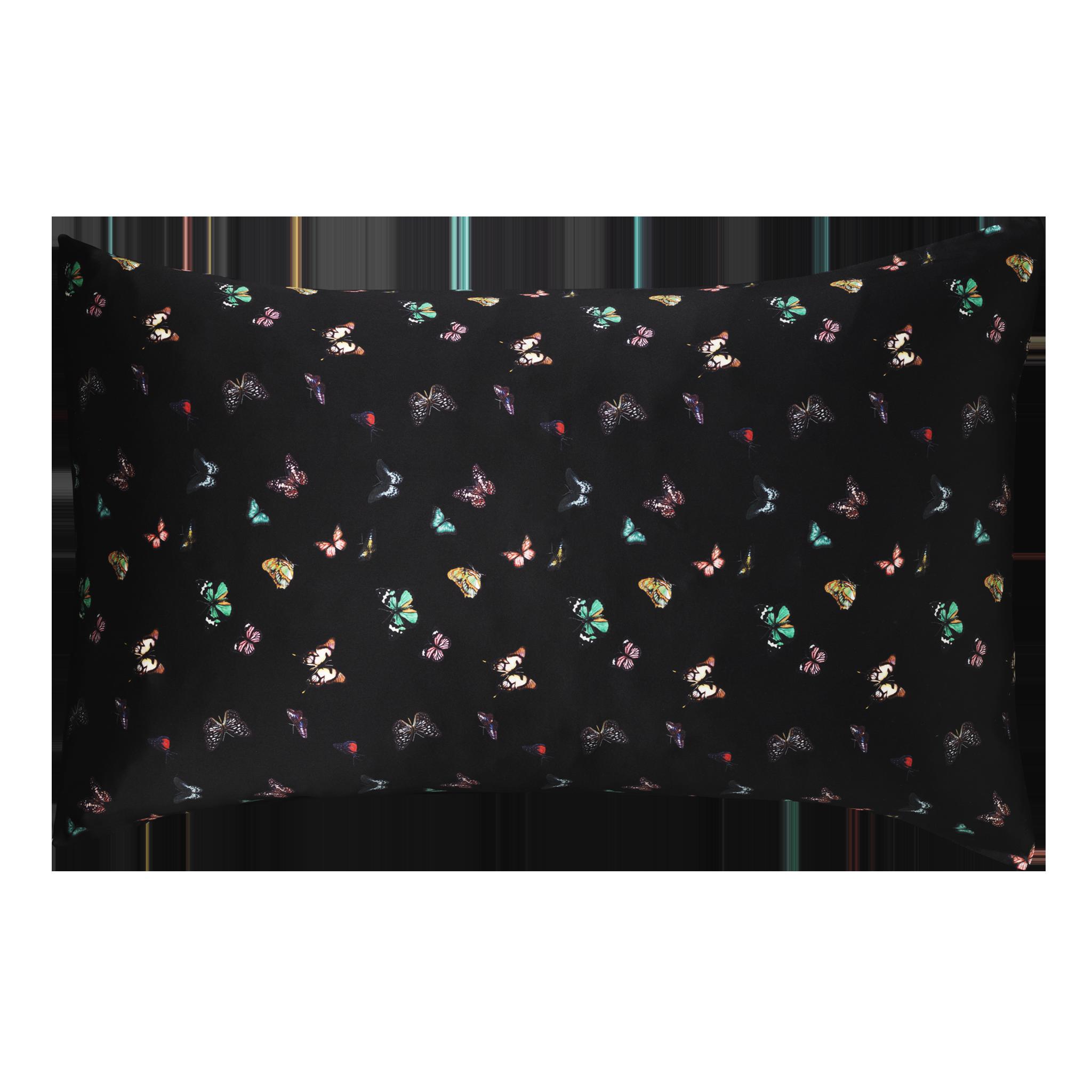 Columba Black | Silk Pillow from The Beauty Sleeper 50 x 75 cm